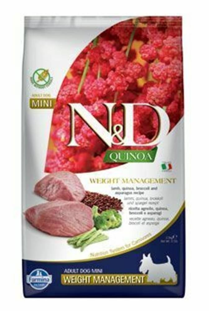 N&D (Farmina Pet Foods) N&D Quinoa DOG Weight Mnmgnt Lamb &Broccoli Mini 2,5kg