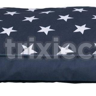 Vankúš (obdélkník) STARS modrý s hviezdami - 90x65cm