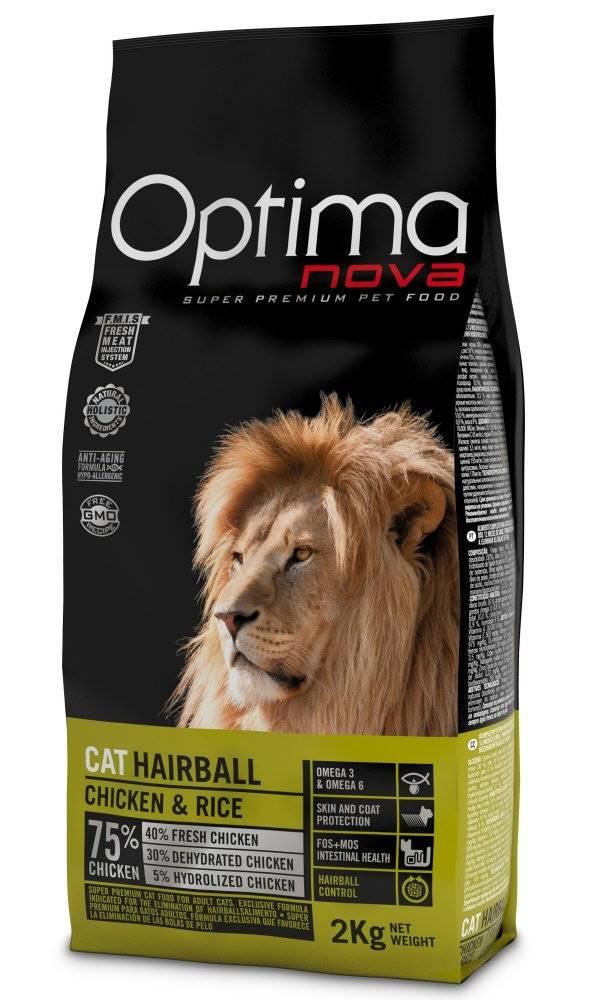 Optimanova OPTIMAnova  cat   HAIRBALL chicken/rice - 2kg