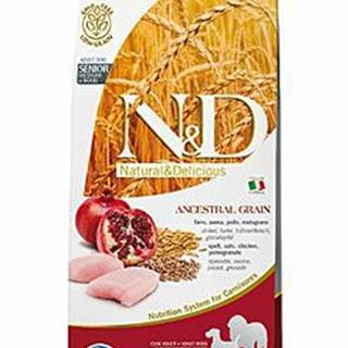 N&D Low Grain DOG Senior Med&Maxi Chicken&Pomegr 12kg