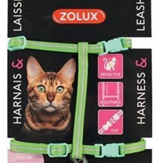 Postroj mačka s vodítkom 1,2m zelený Zolux