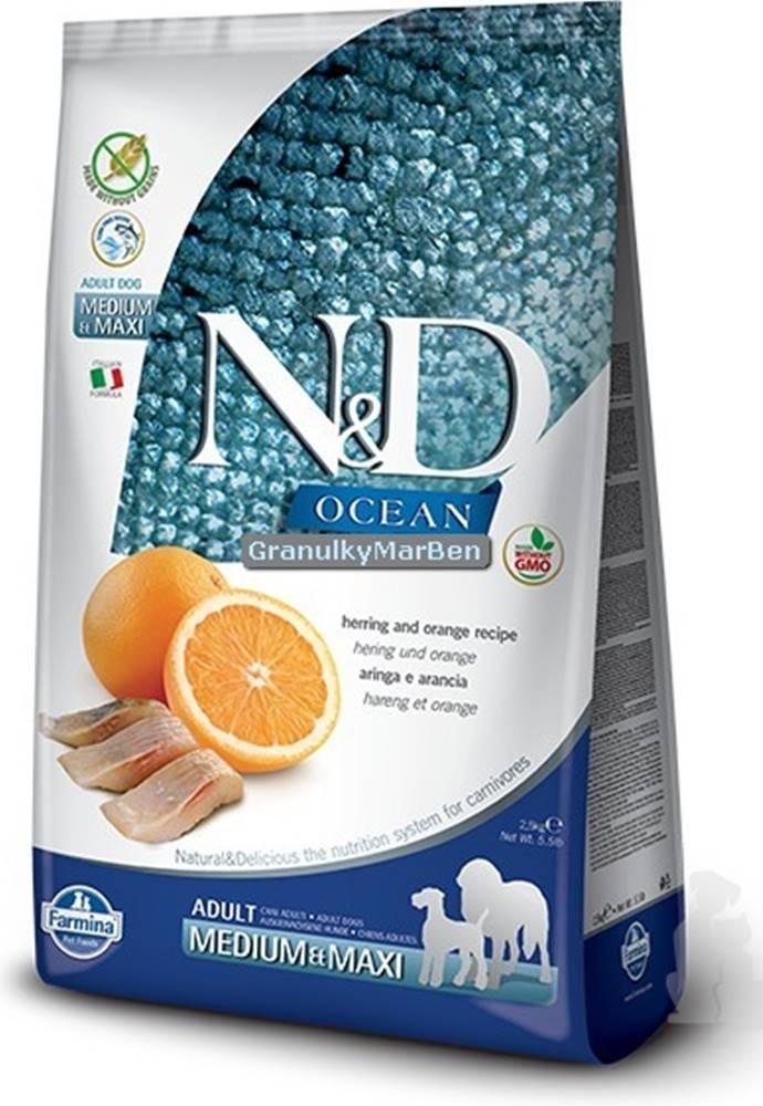 N&D N&D OCEAN DOG Adult M/L Herring & Orange 12kg