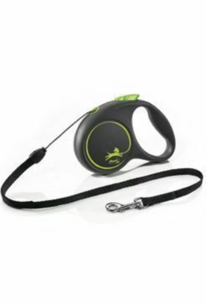 Flexi Vodítko FLEXI Black Design S lanko 5m/12kg zelená NEW