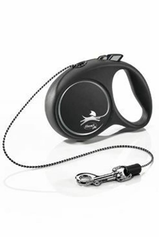 Flexi Vodítko FLEXI Black Design XS lanko 3m / 8kg strieborná NEW