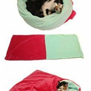 Spací vak 3v1 ružová / tyrkysová XL mačka k.21
