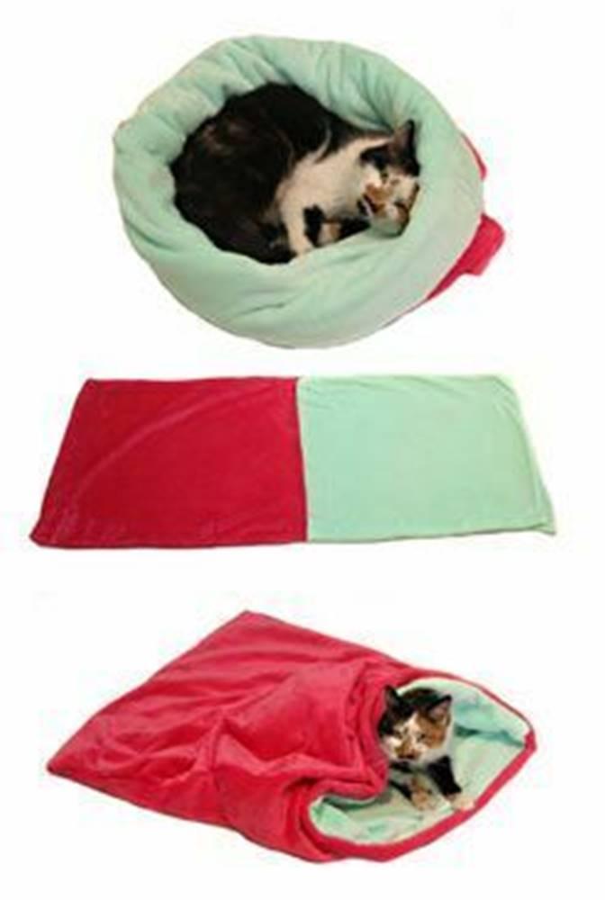 Marysa Spací vak 3v1 ružová / tyrkysová XL mačka k.21
