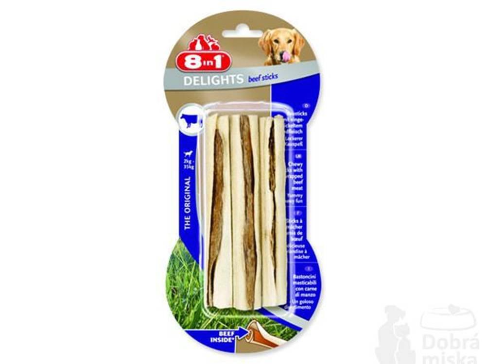 8 in 1 Pet Products GmbH Tyčinka žvýkací Delights Beef 3ks