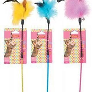 Hračka kočka udice Feather Duster mix barev Zolux