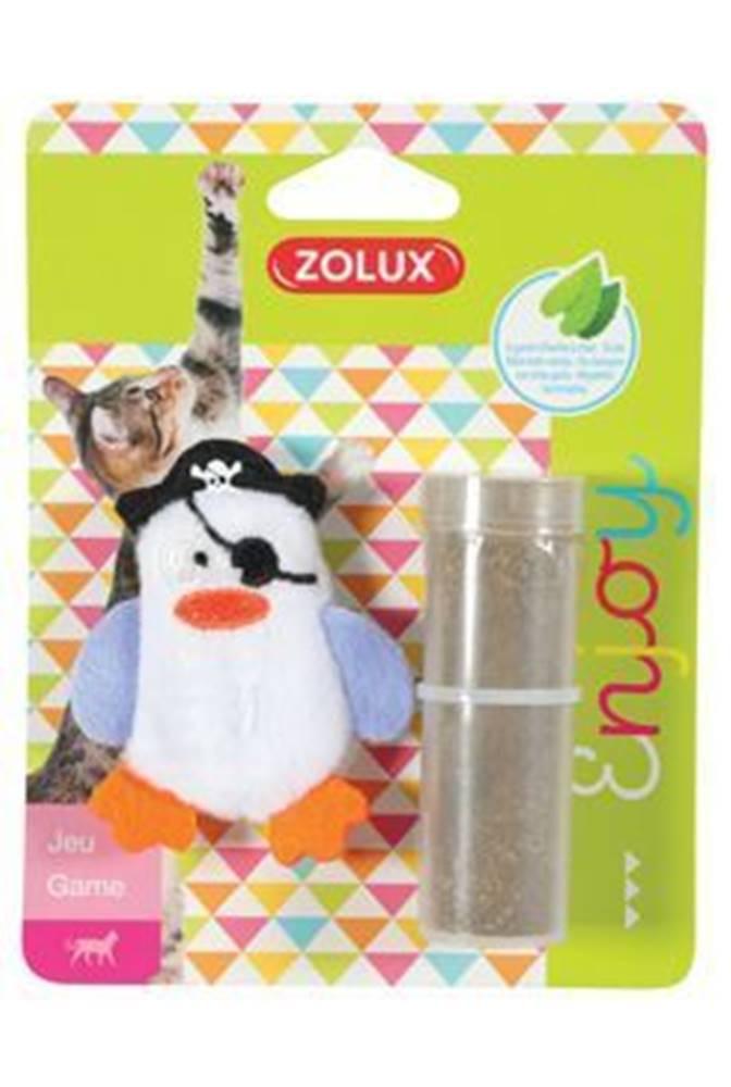 Zolux Hračka mačka PIRATE plniace + kocúrnik biela Zolux