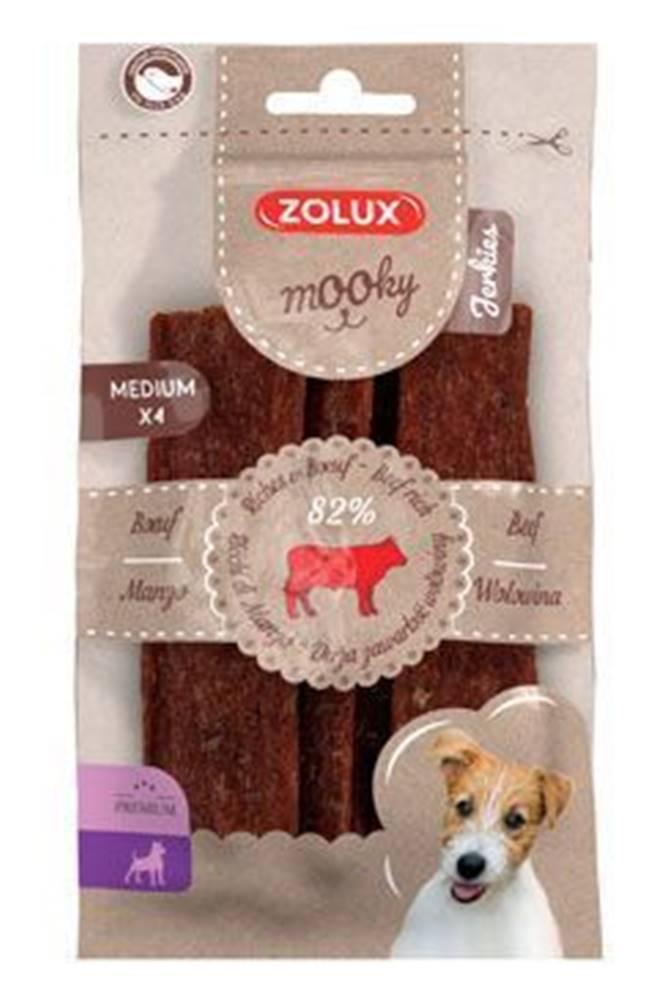 Zolux Pochoutka Mooky Premium hovězí M 4ks Zolux