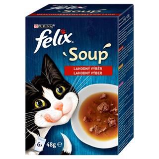 Felix SOUP lahodný výber - hovädzie, kura, jahňa - 6 x 48g
