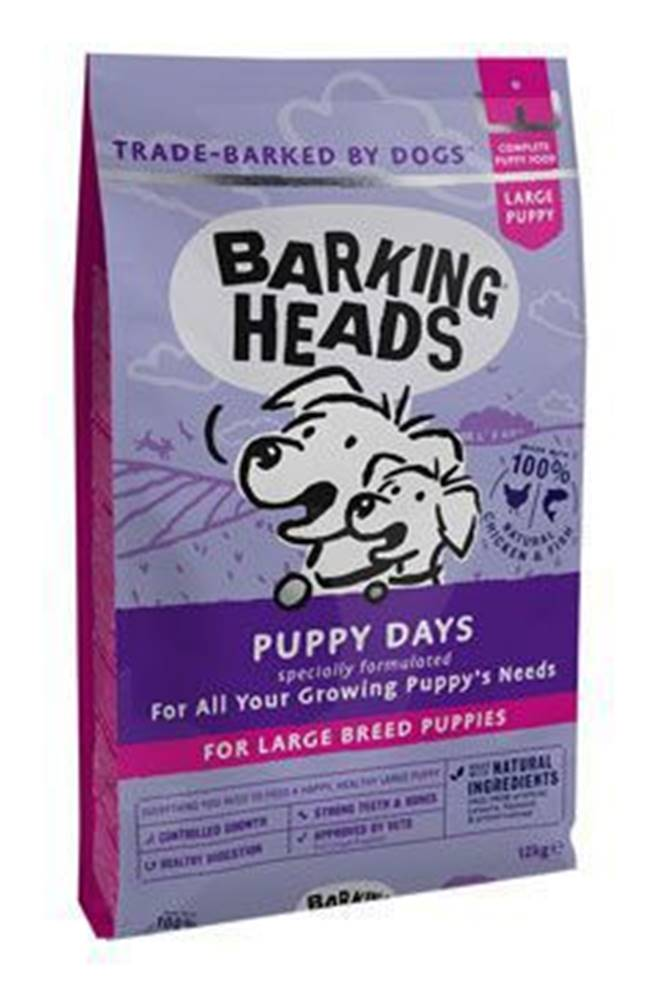 Barking heads BARKING HEADS Puppy Days NEW (Large Breed)12kg