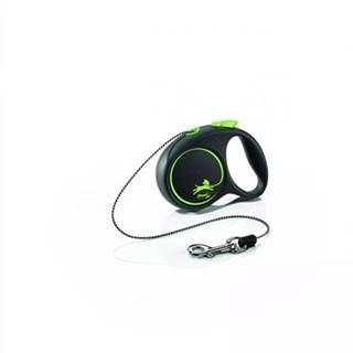 FLEXI Vodítko Black Design M lanko 5 m zelené
