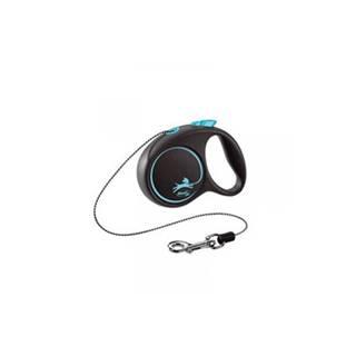 FLEXI Vodítko Black Design S lanko 5 m modré
