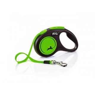 FLEXI Vodítko New Neon M pásik 5 m zelené