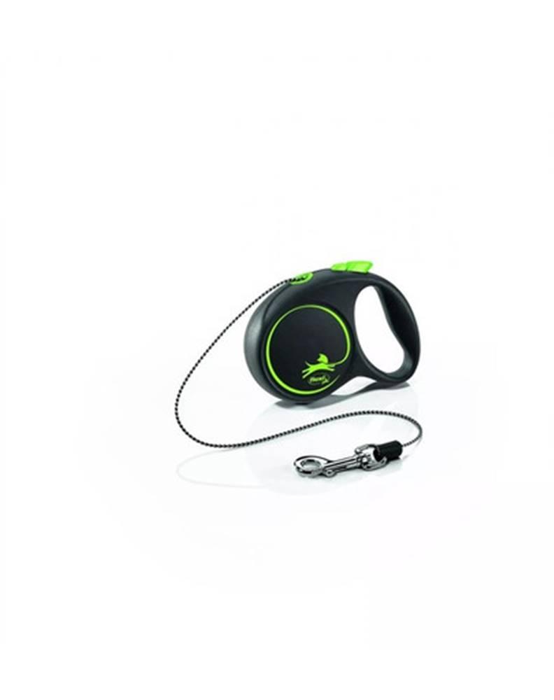 fera FLEXI Vodítko Black Design XS lanko 3 m zelené