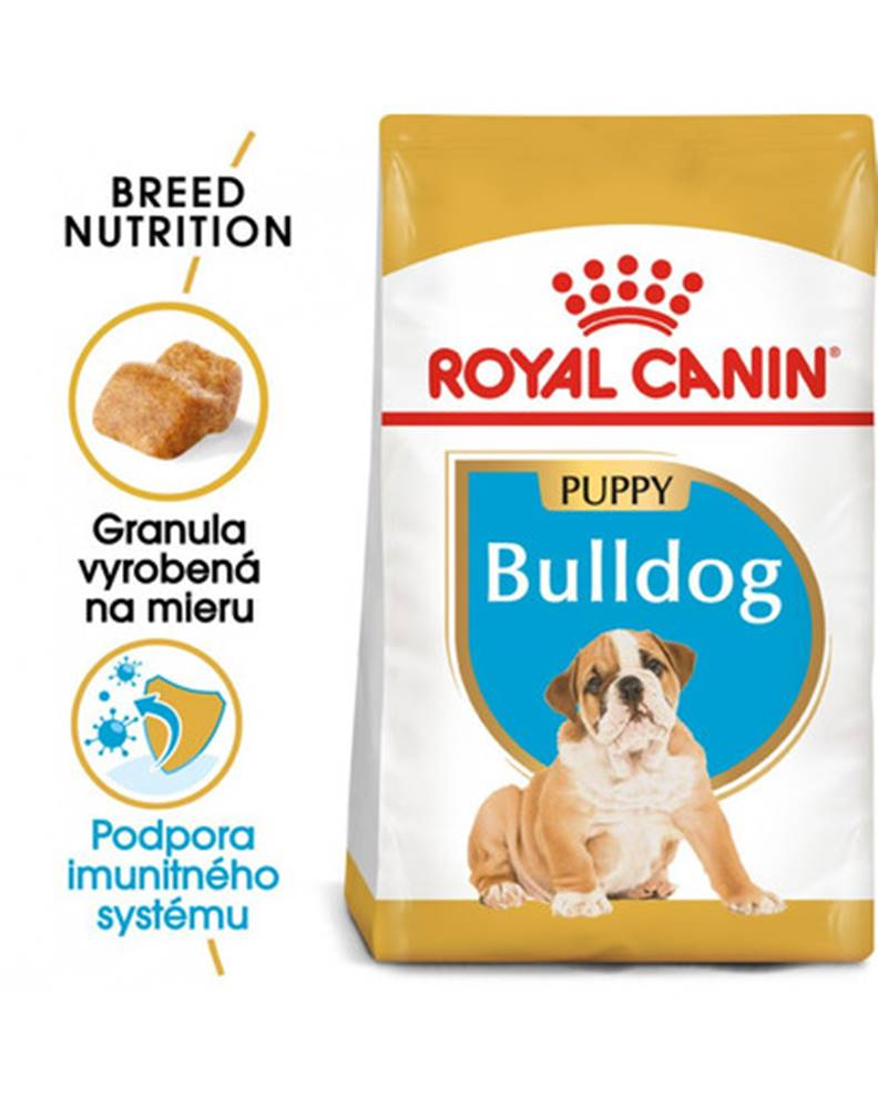 fera ROYAL CANIN Bulldog Puppy 12 kg granule pre šteňa buldoga