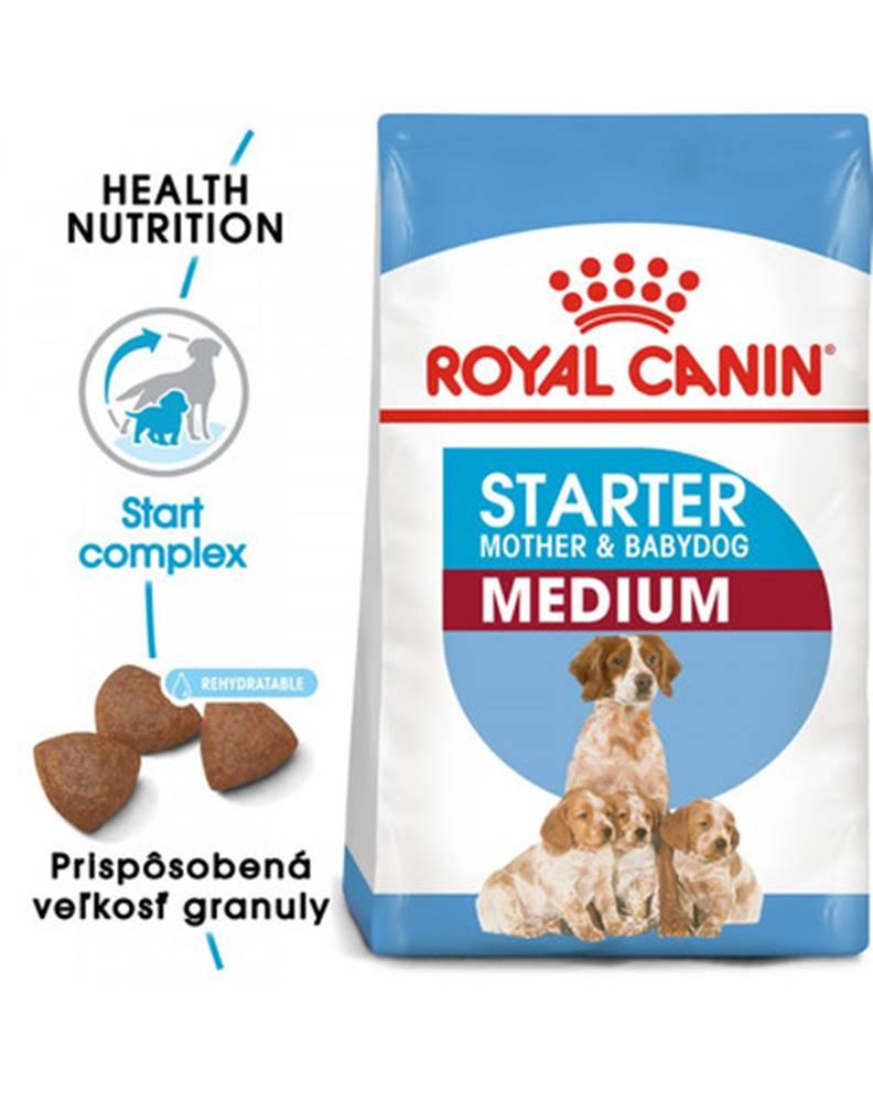 fera ROYAL CANIN Medium starter mother & babydog 4 kg granule pre brezivé alebo dojčiace suky a šteniatka.