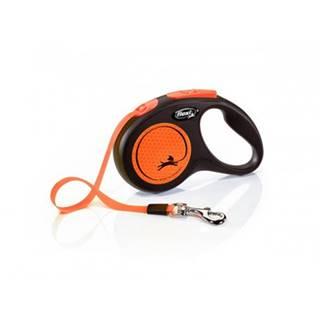 FLEXI Vodítko New Neon M pásik 5 m oranžové