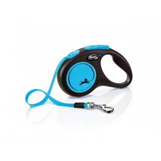 FLEXI Vodítko New Neon S pásik 5 m modré
