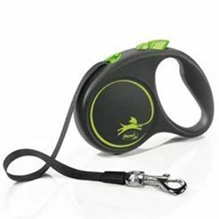 Vodítko FLEXI Black Design S pásik 5m / 15kg zelená NEW