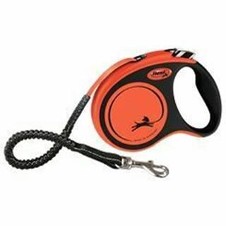 Vodítko FLEXI Xtreme S pásik 5m / 20kg oranžová