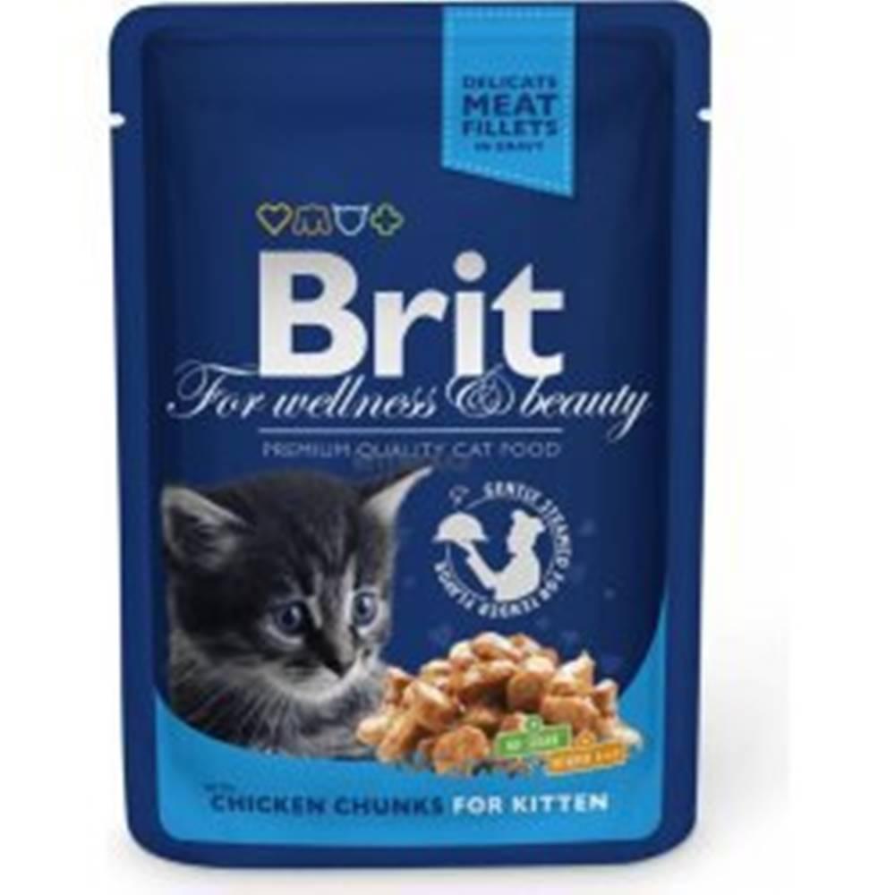 Brit Brit Premium Cat kapsa Chicken Chunks for Kitten 100g