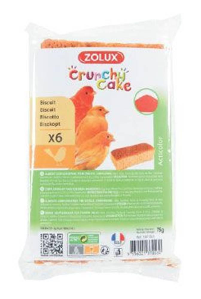 Zolux Sušenky pro ptáky CRUNCHY CAKE ACTICOLOR 6ks 75g Zolux