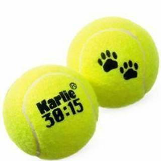 Hračka pes Tenisové loptičky 2ks 6cm žltá KAR