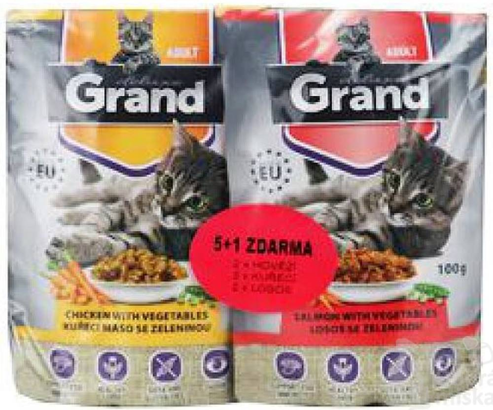 Grand GRAND kaps. deluxe mačka 100% mas. Mtp.folie 5 + 1 á100g