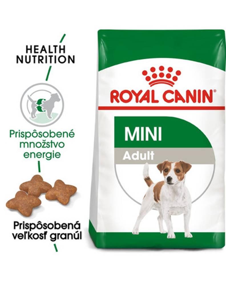 fera ROYAL CANIN Mini Adult 8 kg + kapsičky Mini adult 12x85 g