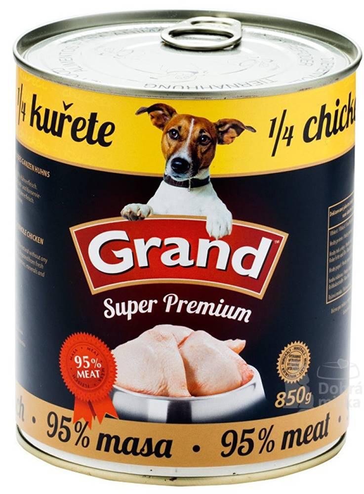 Grand GRAND konz. pes Extra s 1/4 kuřete 850g