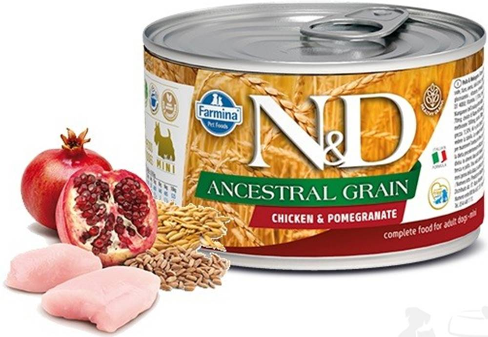 N&D (Farmina Pet Foods) N&D DOG LOW GRAIN Adult Chicken &Pomegranate Mini 140g
