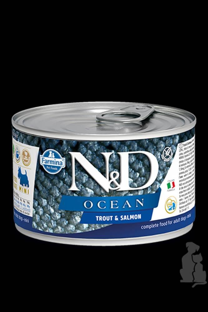 N&D (Farmina Pet Foods) N&D DOG OCEAN Adult Trout & Salmon Mini 140g
