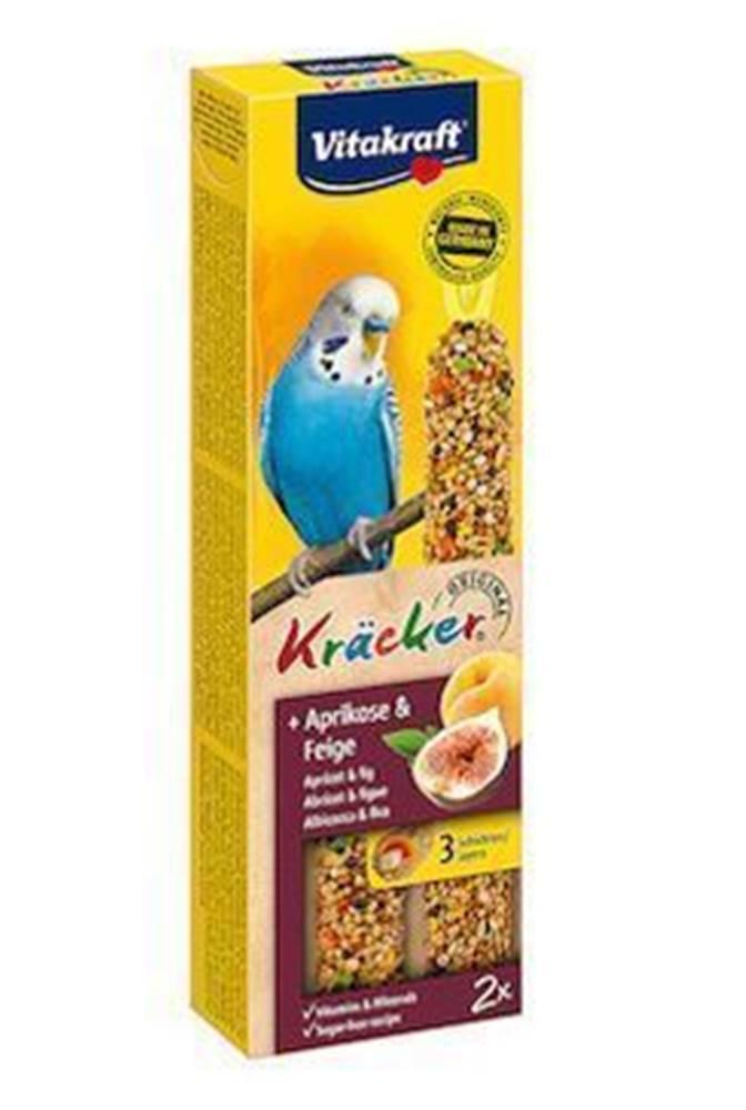 Vitakraft Vitakraft Bird Kräcker Budgie Marhuľa + Fík tyč 2ks