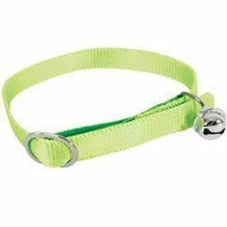 Obojok mačka nylon 10mm / 30cm zelený Zolux
