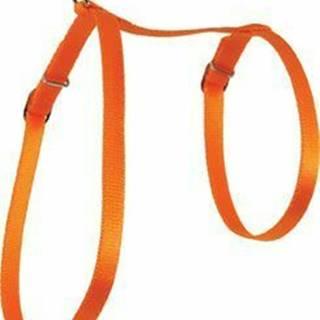 Postroj mačka nylon 10mm oranžový Zolux