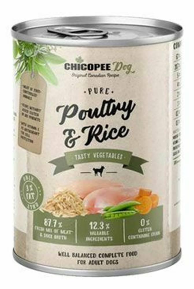 CHICOPEE Chicopee Dog konz. Pure Poultry&Rice 400g