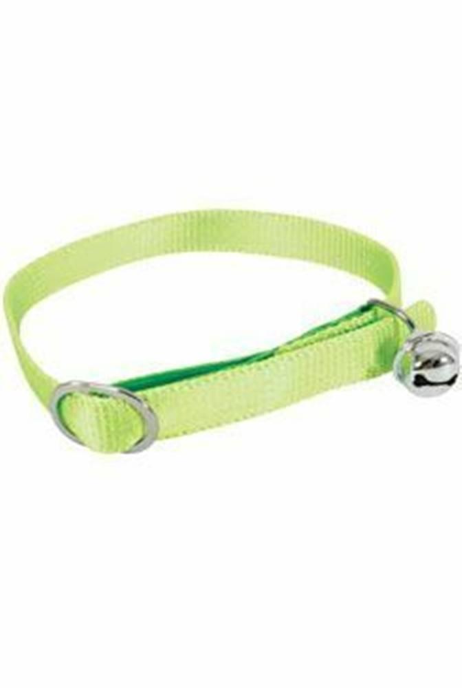 Zolux Obojok mačka nylon 10mm / 30cm zelený Zolux