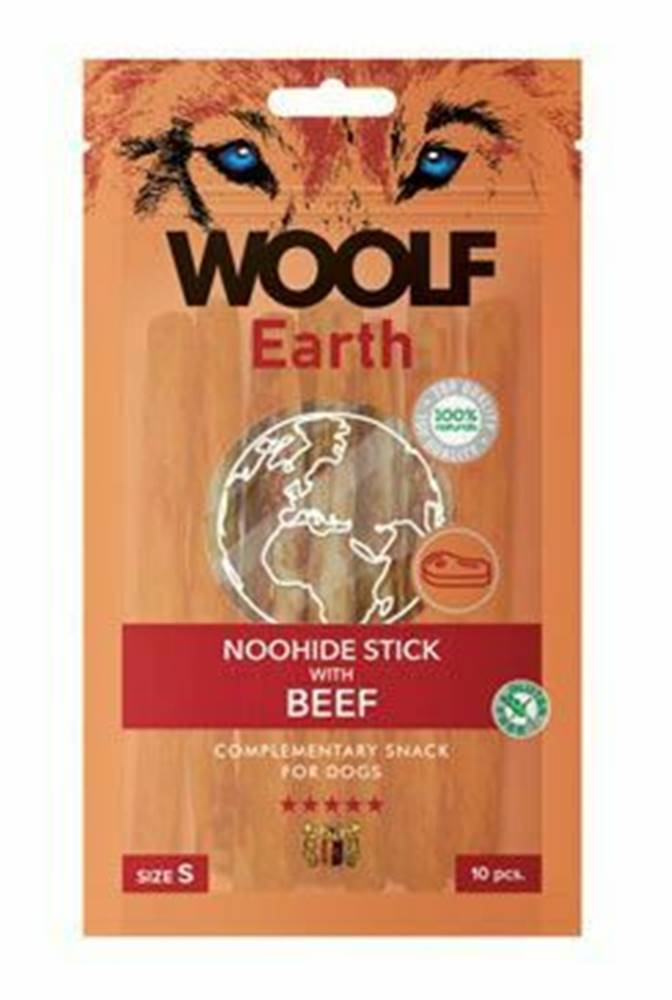 Woolf Woolf pochúťka Earth NOOHIDE S Beef 90g