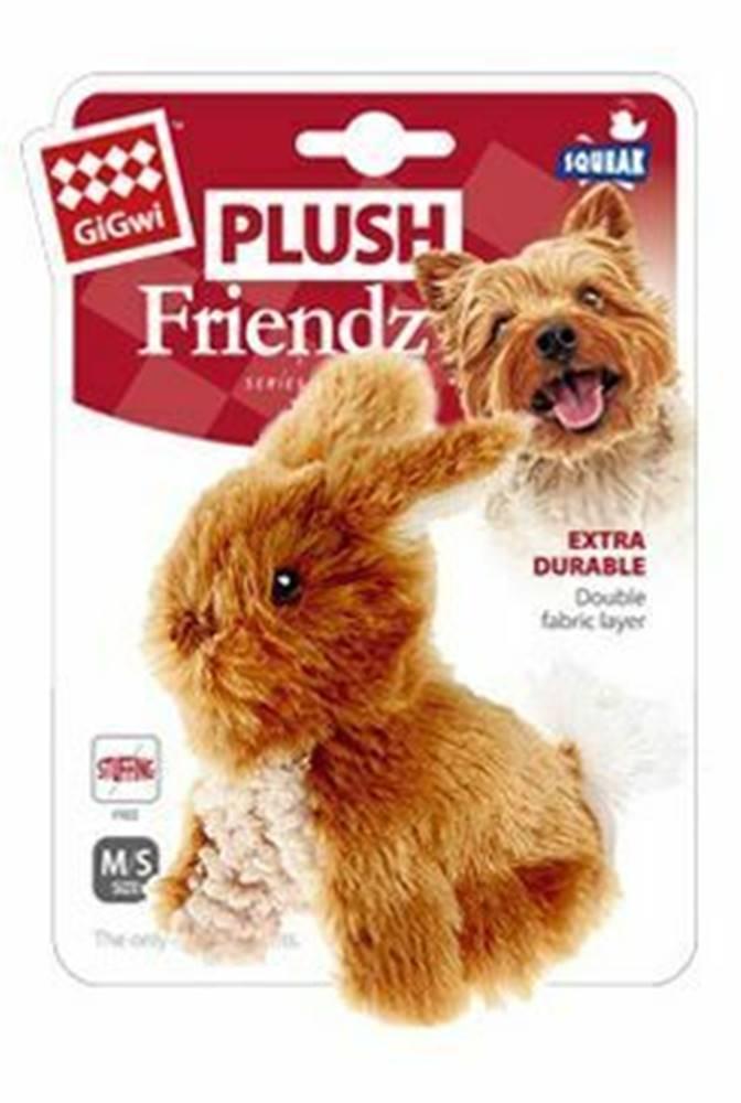 GiGwi Hračka pes GiGwi Plush Friendz Králiček hnedý plyš