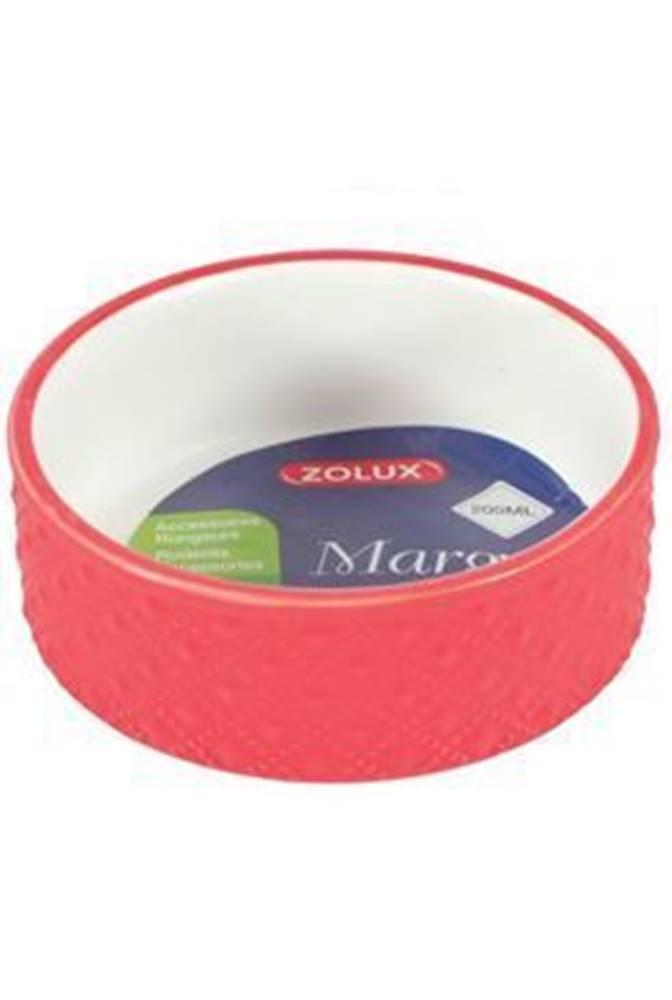 Zolux Miska keramická MARGOT hlodavec 100ml červená Zolux