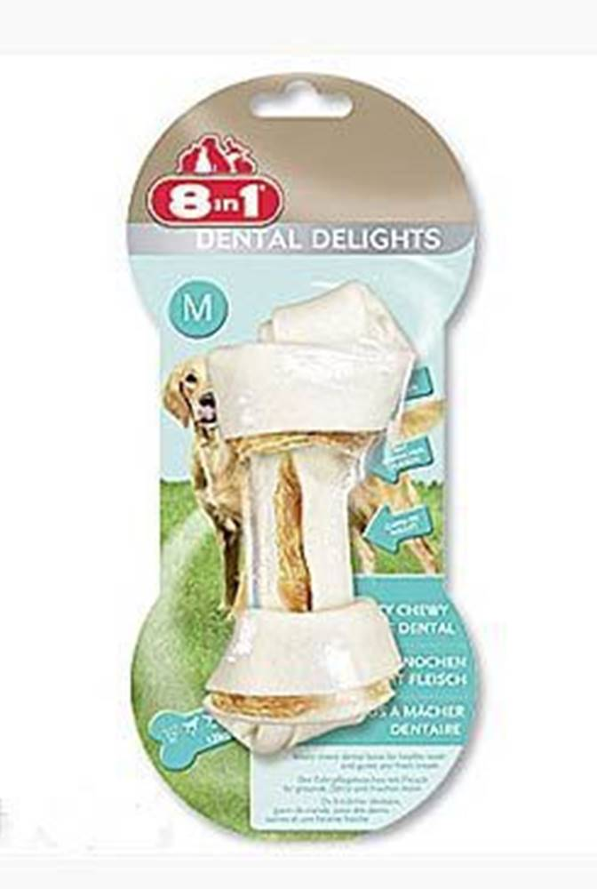 8 in 1 Pet Products GmbH Kosť žuvacia s minerálmi Dental Delights M 1ks