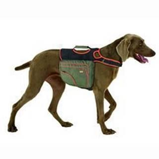 Batoh pre psov XL zelená / oranž. reflexné KAR 1ks