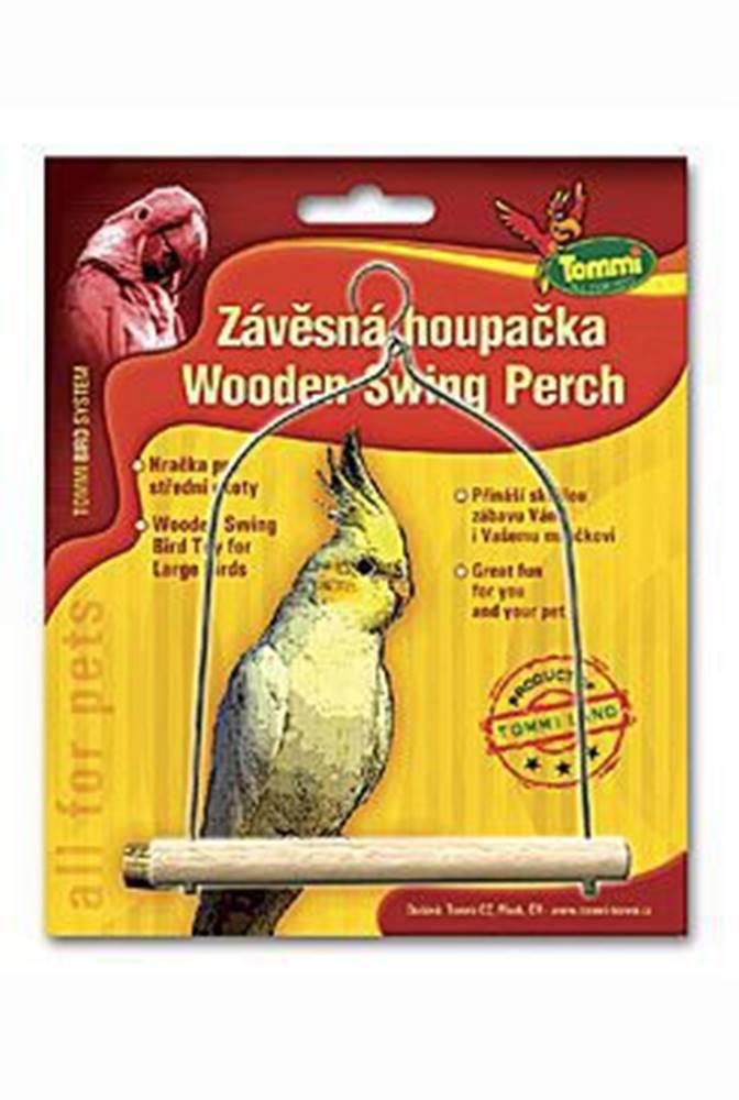 Tommi Houpačka střední pro ptáky dřevo - kov