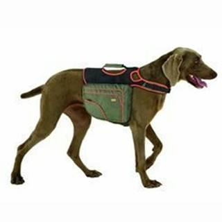Batoh pre psov M zelená / oranž. reflexné KAR 1ks