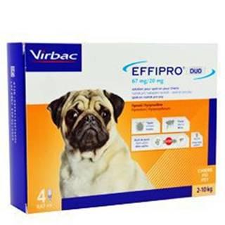 Effipro DUO Dog S (2-10kg) 67/20 mg, 4x0,67ml