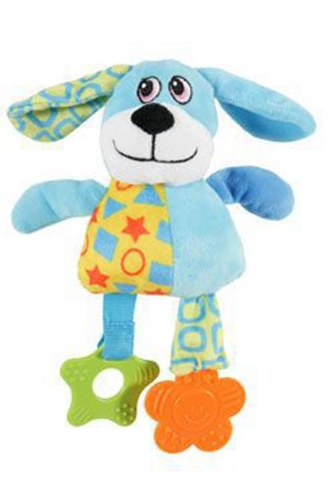 Zolux Hračka pes DOG COLOR plyš modrá 22cm Zolux
