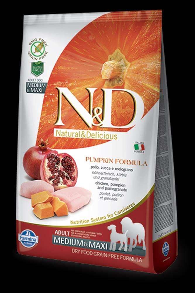 N&D N&D GF Pumpkin DOG Adult M/L Chicken&Pomegranate 2,5kg