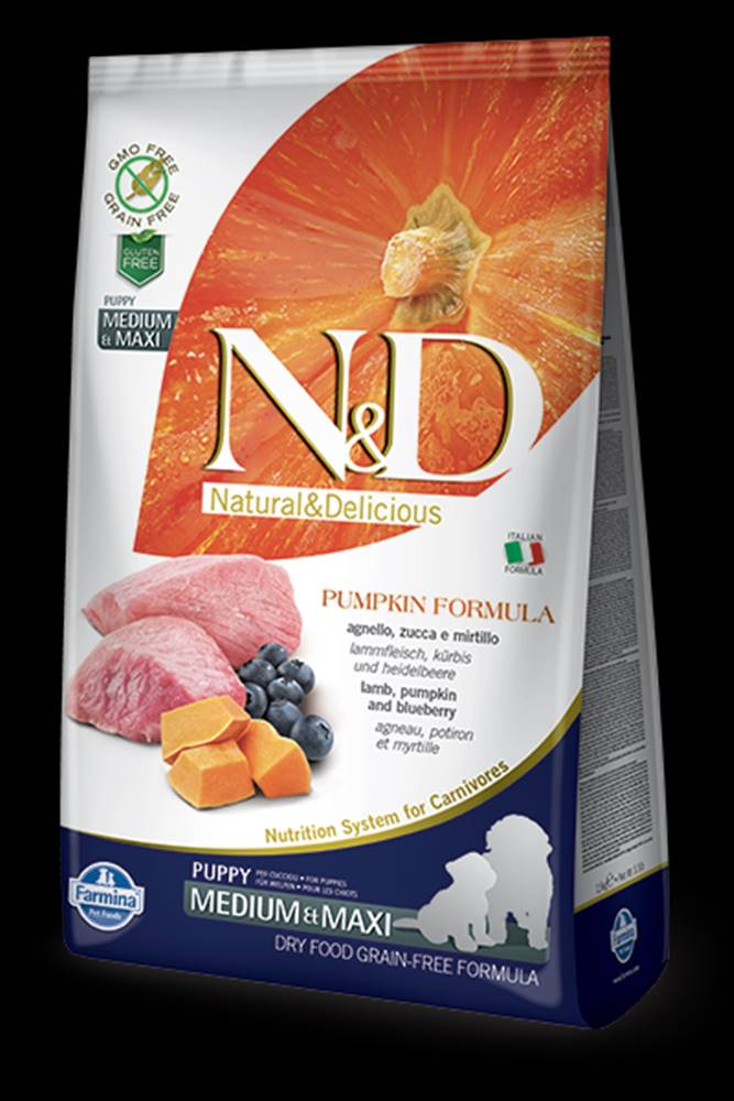 N&D N&D GF Pumpkin DOG Puppy M/L Lamb & Blueberry 12kg
